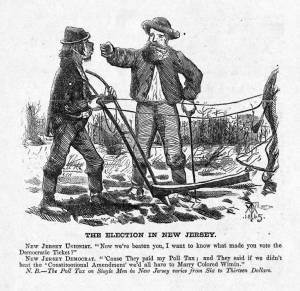 New Jersey election, 1867. Harper's Weekly.